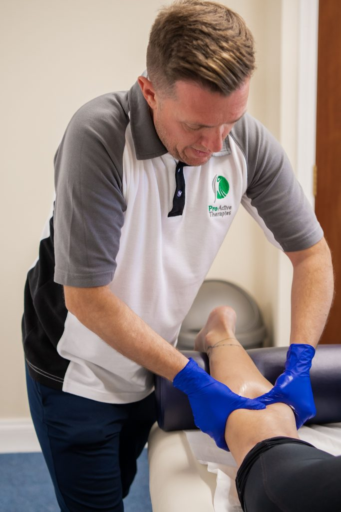 Sports massage therapy with Wayne Fountain at ProActive Therapies, Honingham, Norfolk